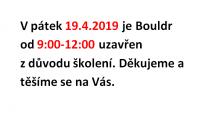 Uzavření Bouldrovky