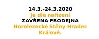 UZAVŘENÍ PRODEJNY 14.3.-24.3.2020