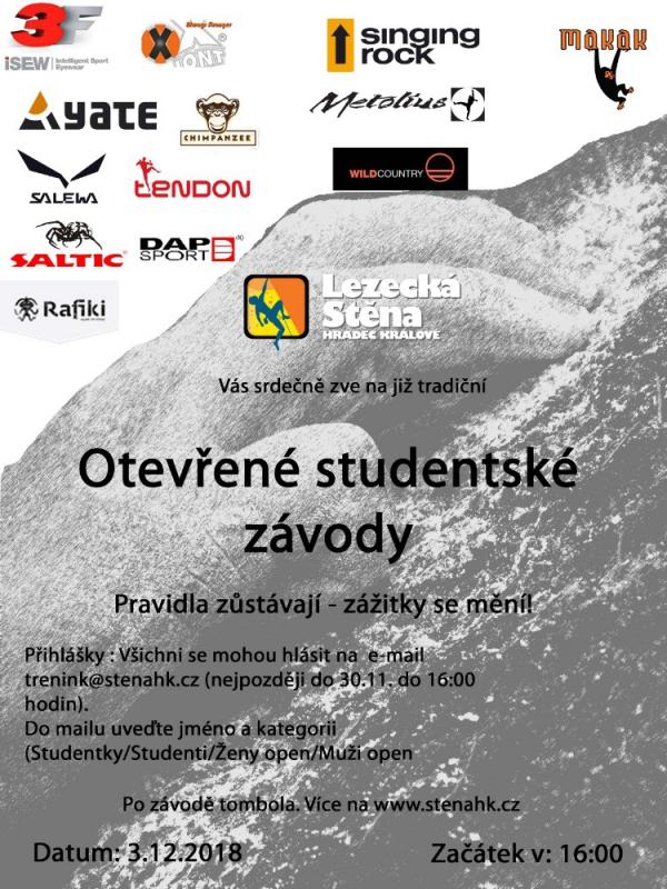 Nový sponzor otevřených studentských závodů 2018!