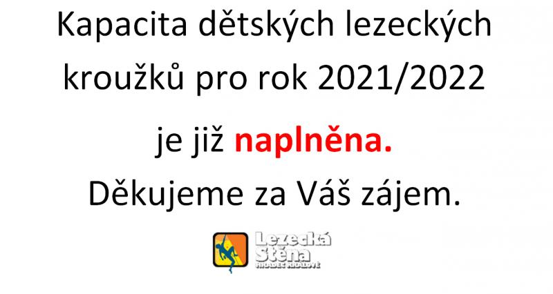 Dětské lezecké kroužky 2021/2022